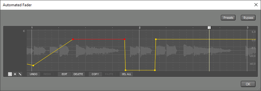 Automated Fader window