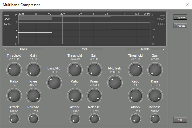 Multiband Compressor window