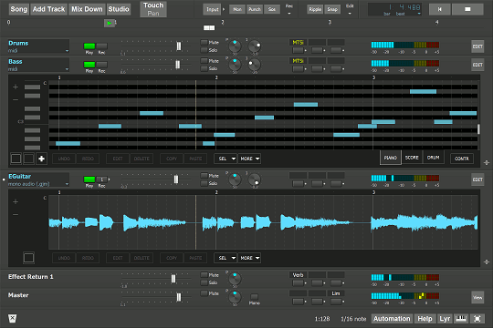 <i>MultitrackStudio running on Microsoft Surface Pro 3</i>