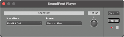 SoundFont Player window